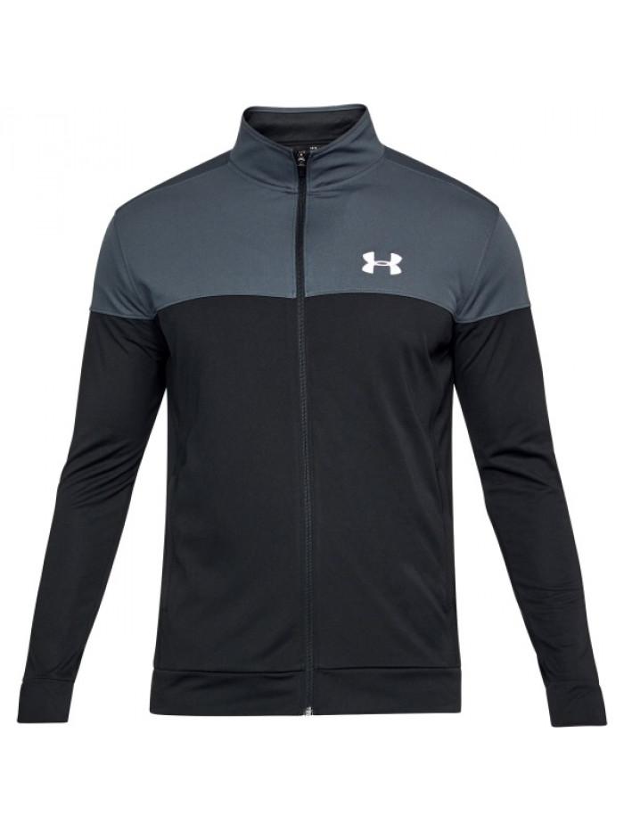 Pánska mikina Under Armour Sportstyle Pique Jacket čierno-sivá