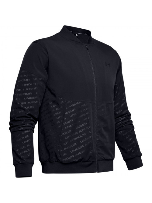 Pánska bunda Under Armour Unstoppable Emboss Bomber Wire čierna
