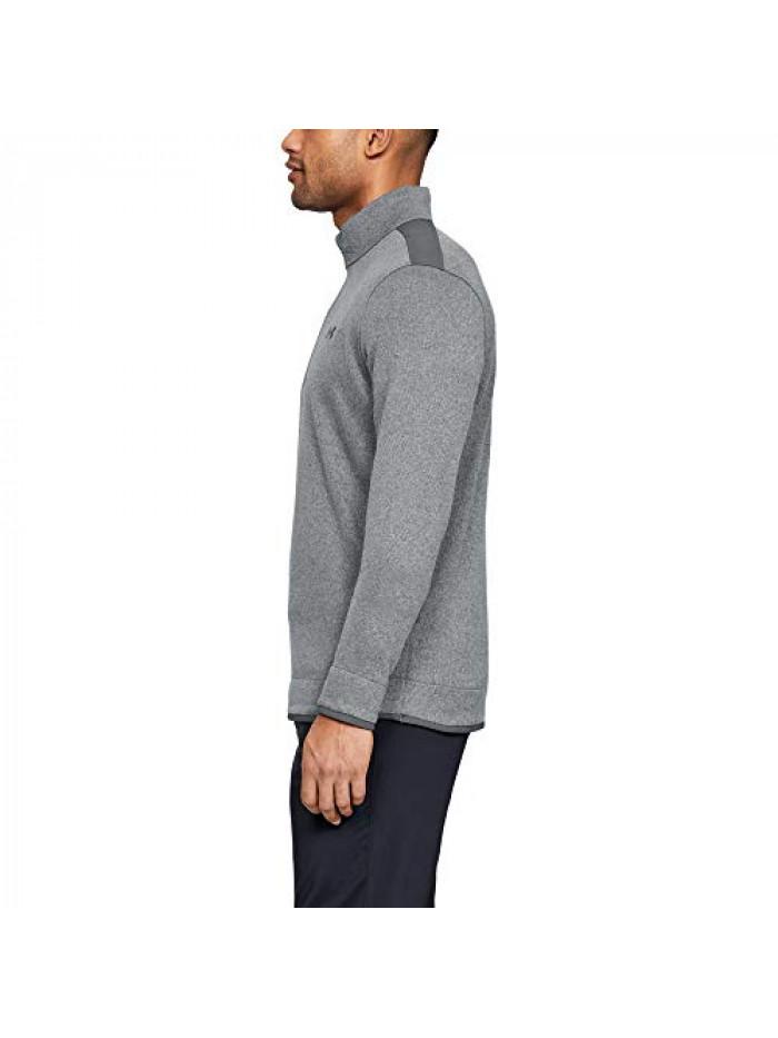 Pánsky sveter Under Armour Sweater Fleece sivý