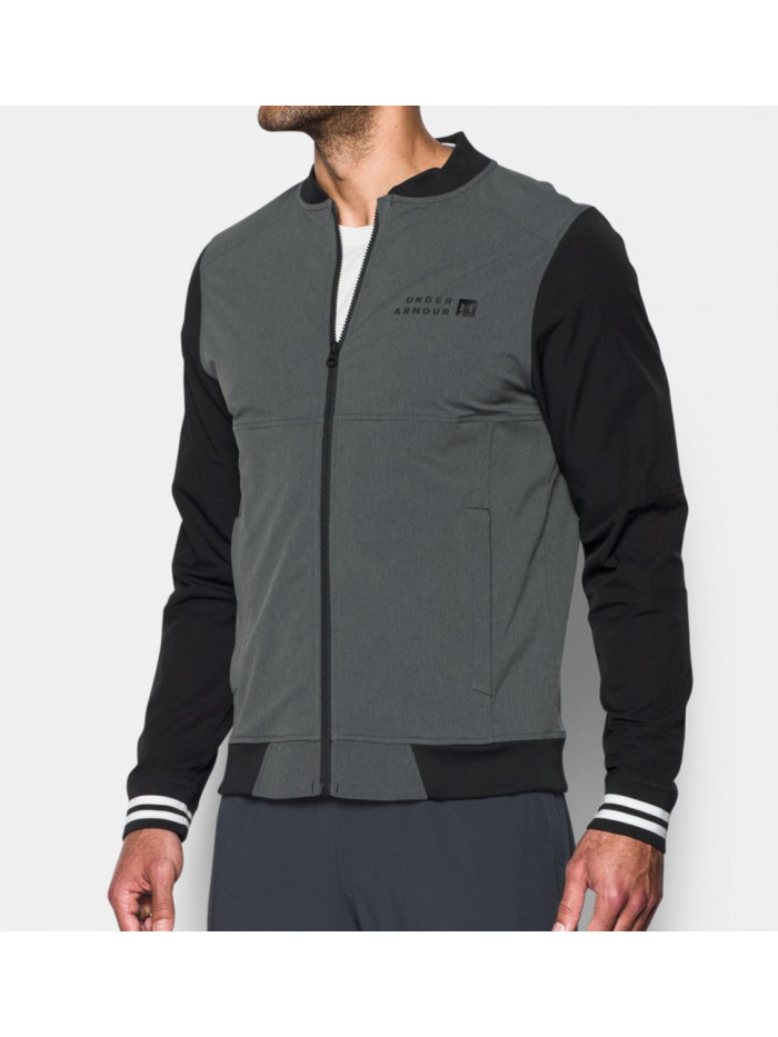 Pánska bunda Under Armour Sportstyle Woven Bomber sivá