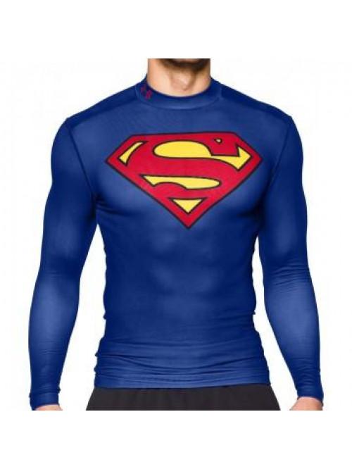 Pánsky kompresný nátelník Under Armour Superman modrý
