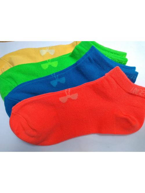Členkové dámske ponožky Under Armour nízke 4pack- zelené, oranžové, modré, žlté