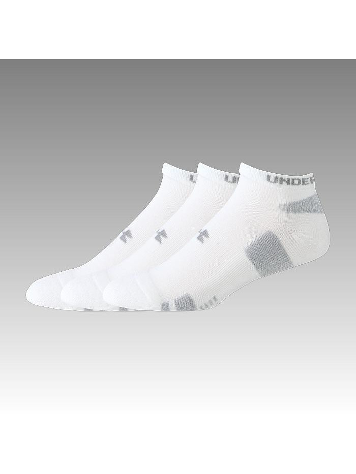 Pánske ponožky Under Armour Heatgear nízke biele 3 páry