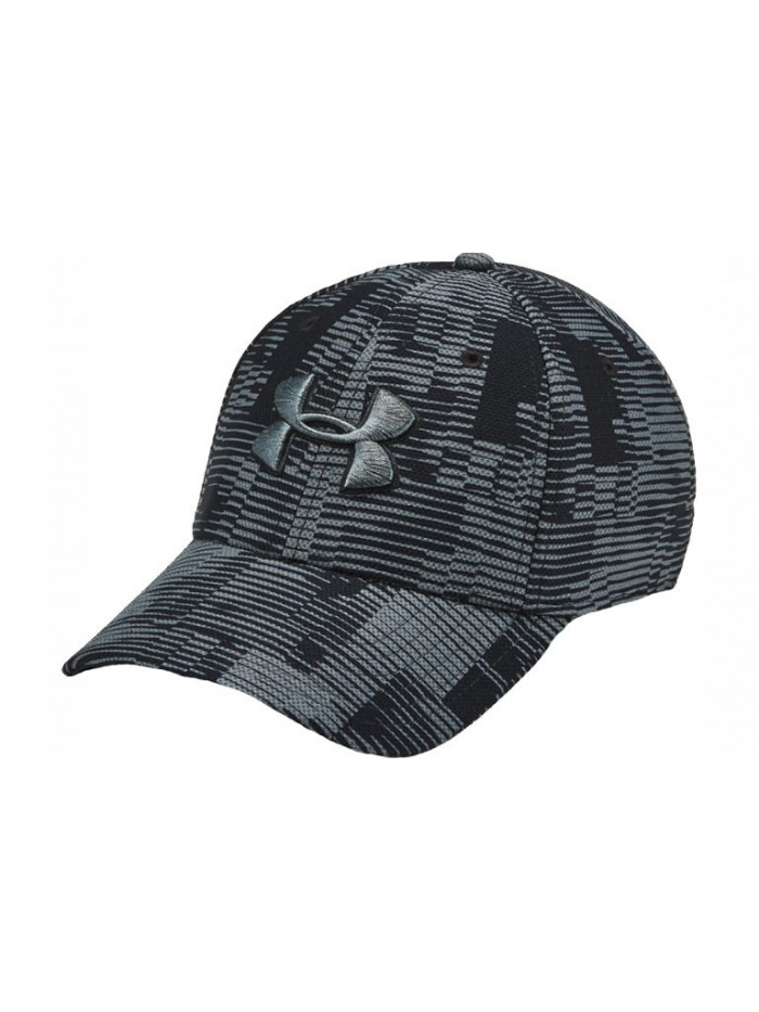 Šiltovka Under Armour Men's Printed Blitzing 3.0 Cap čierno-sivá