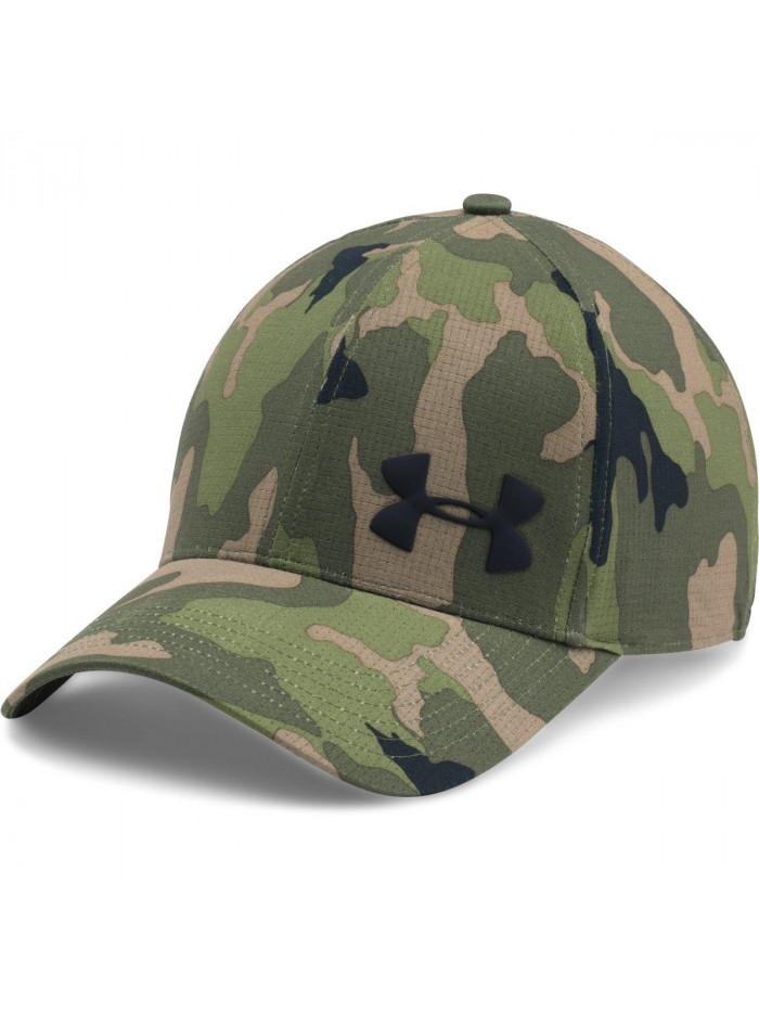Pánska šiltovka Under Armour Airvent Core camo maskáčová zelená