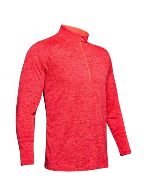 Pánske tričko Under Armour Tech 2.0 1/2 Zip Červené