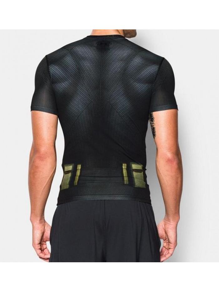 Pánske kompresné tričko Under Armour Batman čierne
