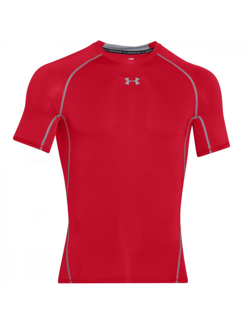 Pánske kompresné tričko Under Armour HeatGear Short Sleeve červené