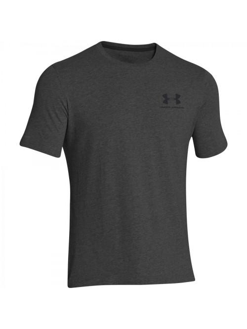 Pánske voľné tričko Under Armour Left Chest Logo Tee sivé