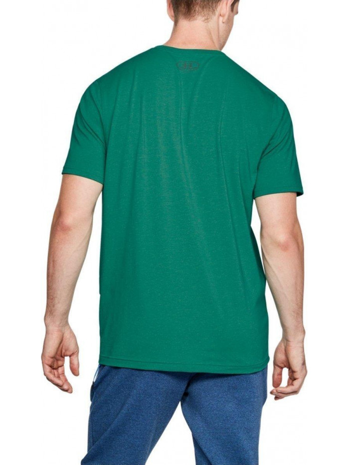 Pánske voľné tričko Under Armour Left Chest Logo Tee zelené