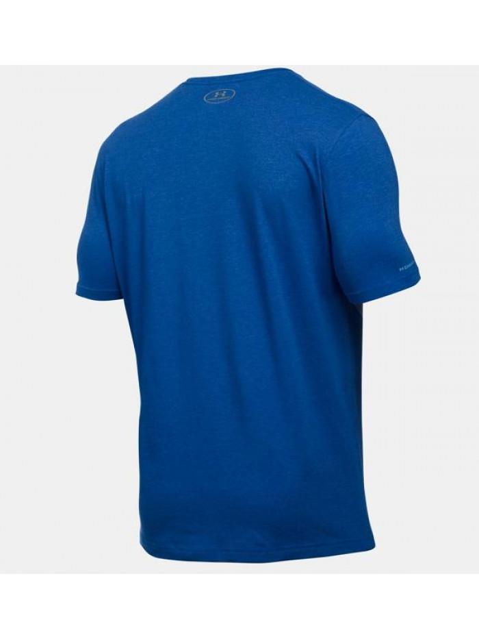 Pánske voľné tričko Under Armour Left Chest Logo Tee modré