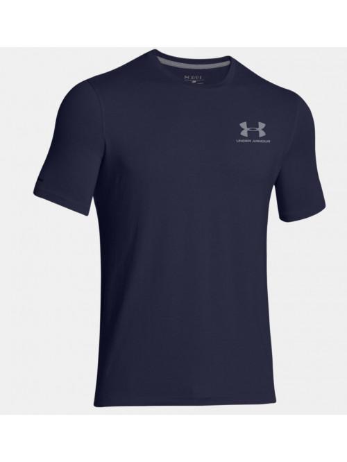 Pánske voľné tričko Under Armour Left Chest Logo Tee modro-sivé