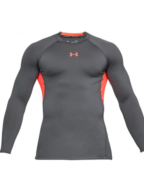 Pánsky kompresný nátelník Under Armour Heatgear Long Sleeve sivý