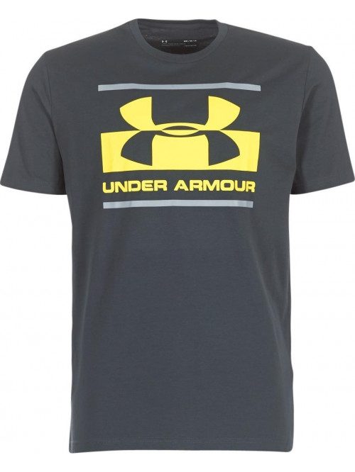 Tričko Under Armour Blocked tmavosivé