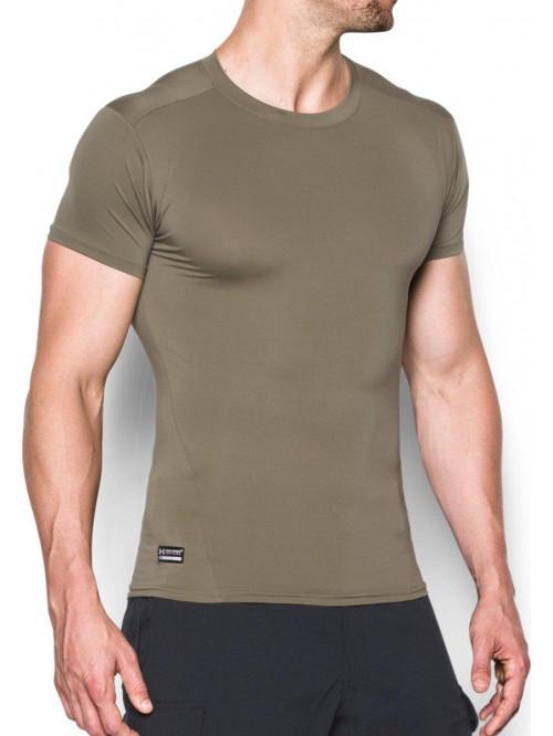 Pánske kompresné tričko Under Armour taktické zelené