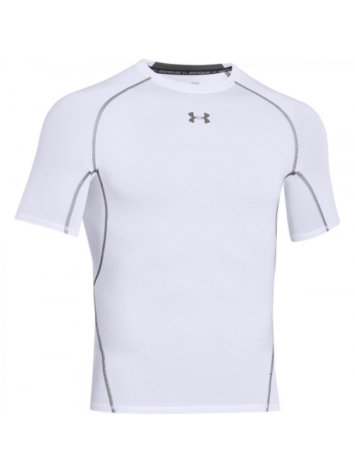 Pánske kompresné tričko Under Armour HeatGear Short Sleeve biele