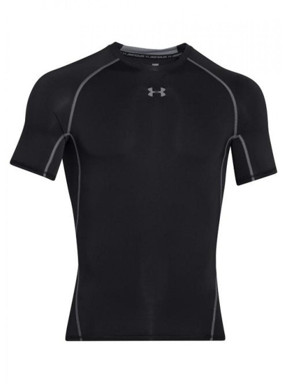 Pánske kompresné tričko Under Armour HeatGear Short Sleeve čierne