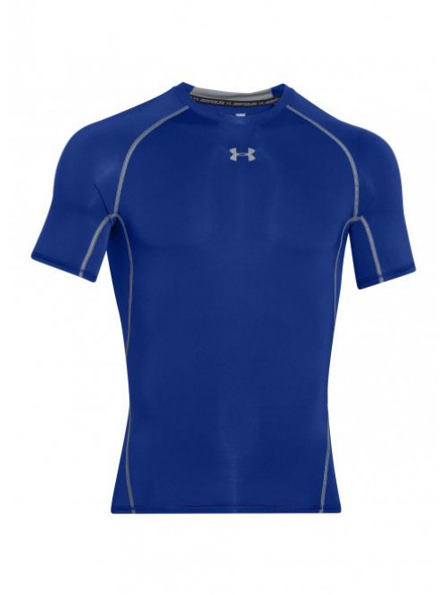 Pánske kompresné tričko Under Armour HeatGear Short Sleeve modré