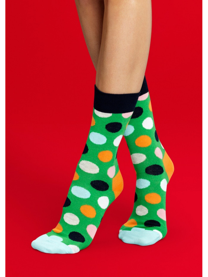 Ponožky Happy Socks Big Dots - zelené