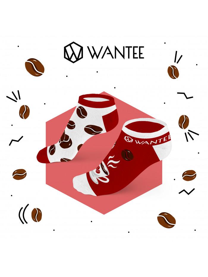 Členkové ponožky Kávička Wantee