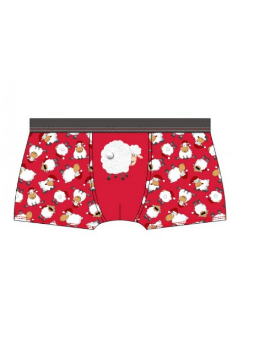 Boxerky Cornette 3D Sheep Red