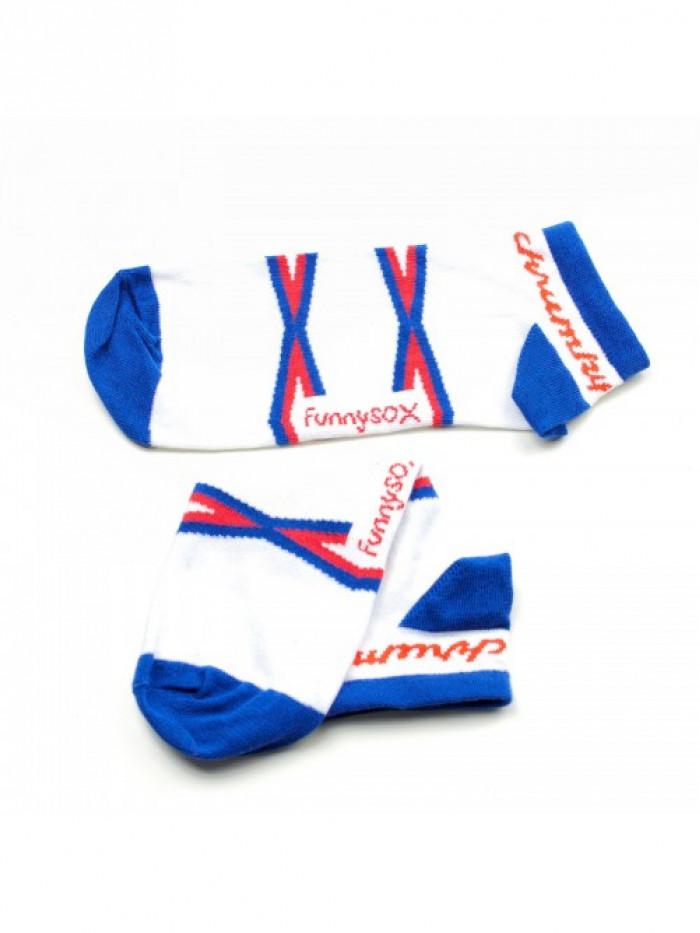 Členkové Ponožky Chrumky FunnySOX modré