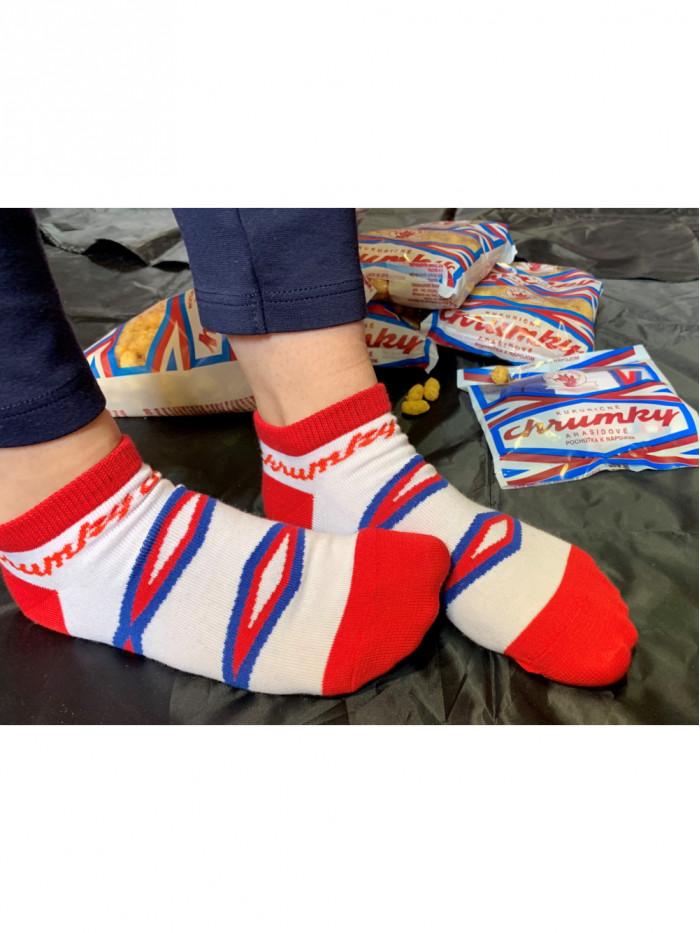 Členkové Ponožky Chrumky FunnySOX červené