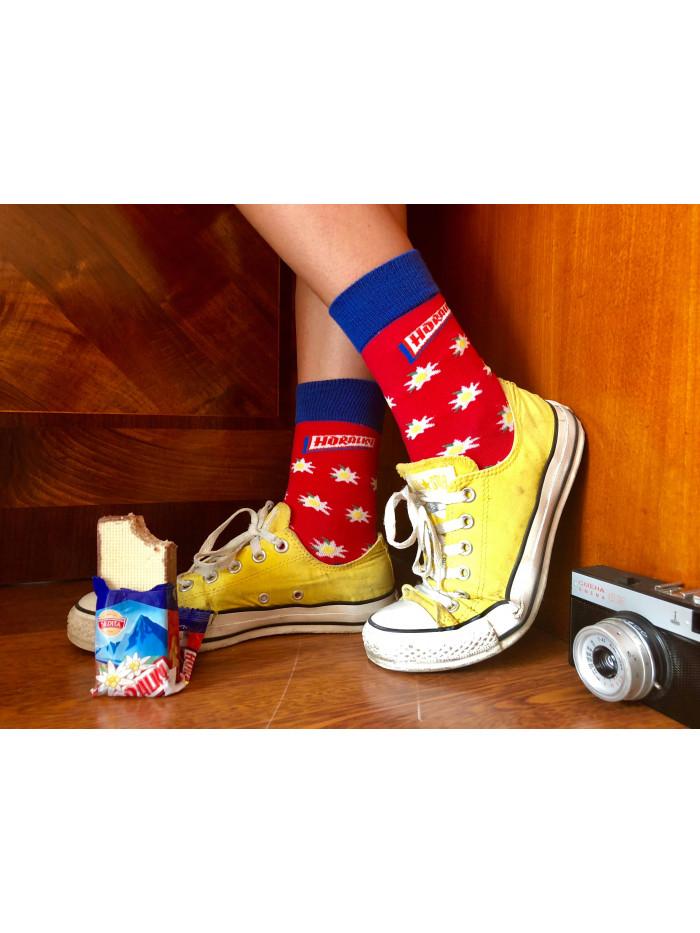 Ponožky Funnysox Horalky červené