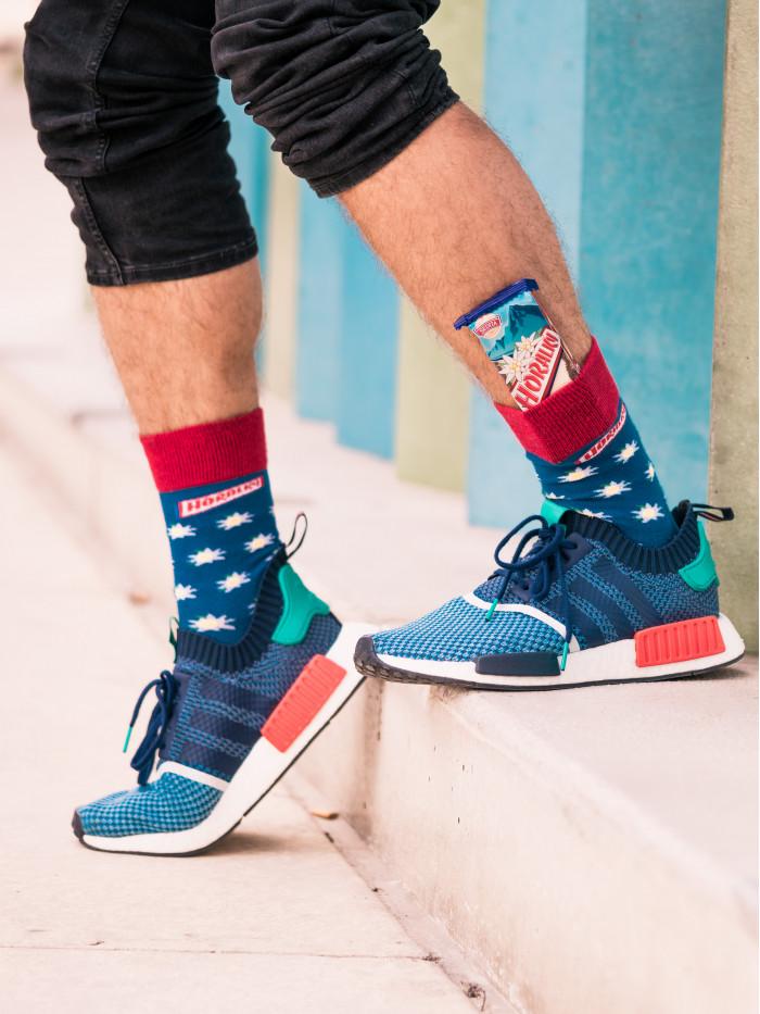 Ponožky Funnysox Horalky modré