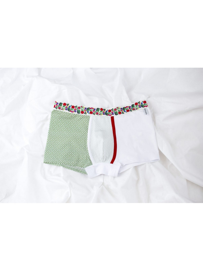 Boxerky Maszaryk Ungri White&Green