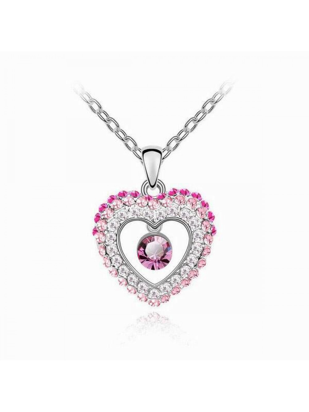 Náhrdelník Bijúce srdce ružové