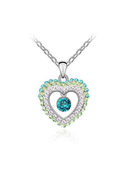Náhrdelník Bijúce srdce zelené