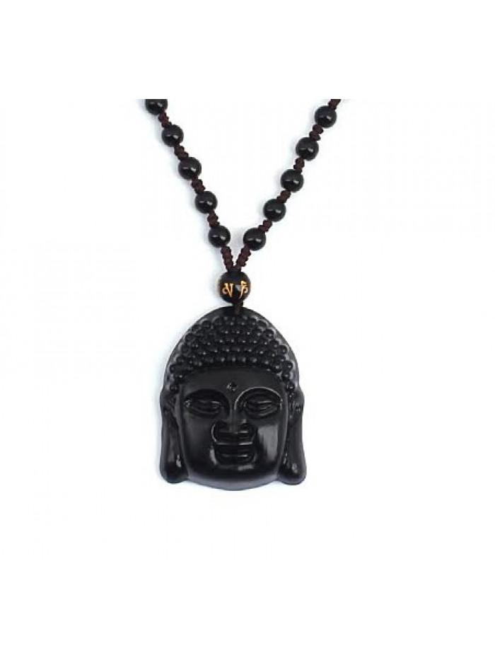 Náhrdelník Buddha Obsidian