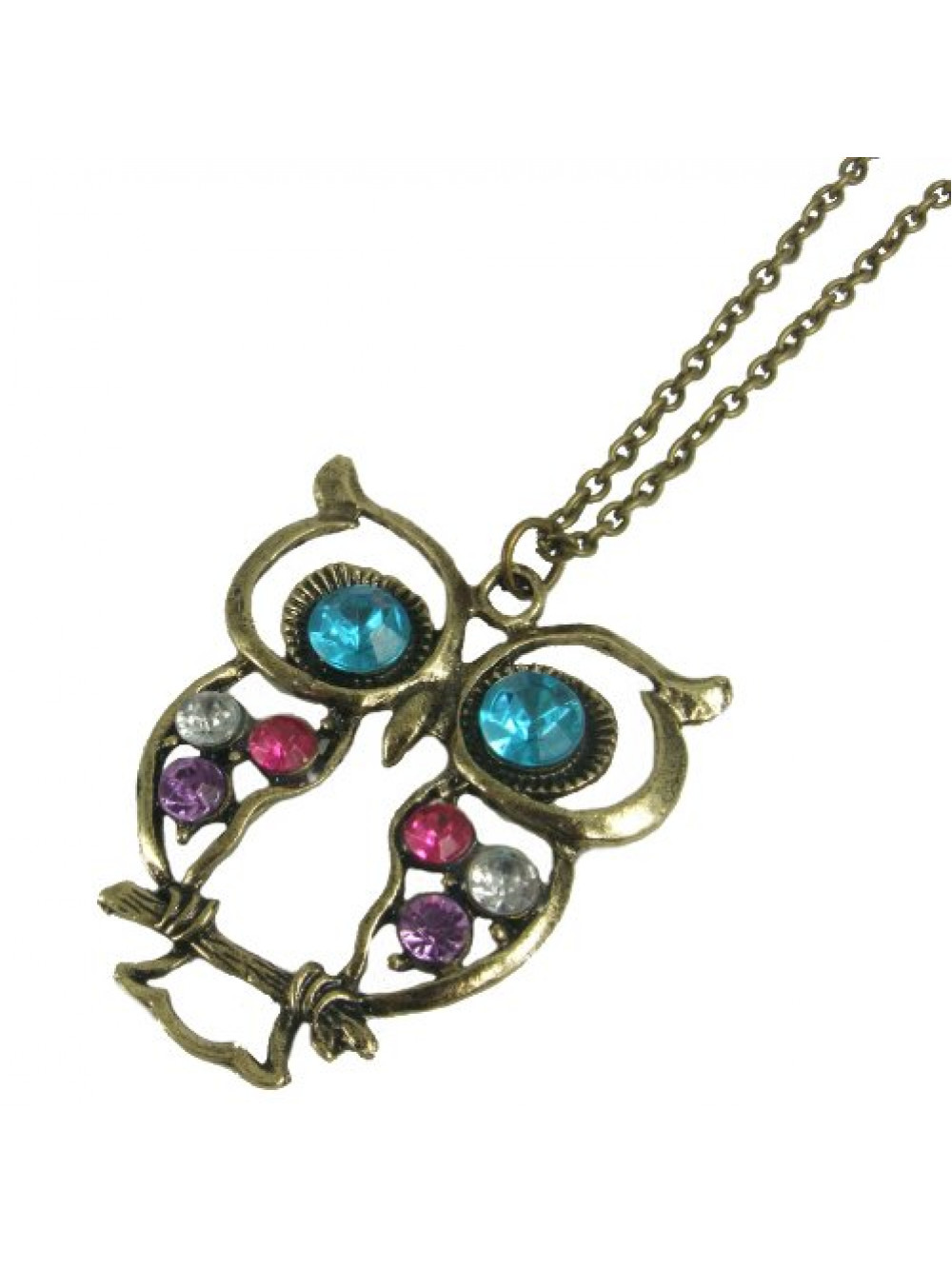 Vintage náhrdelník Sova Štras