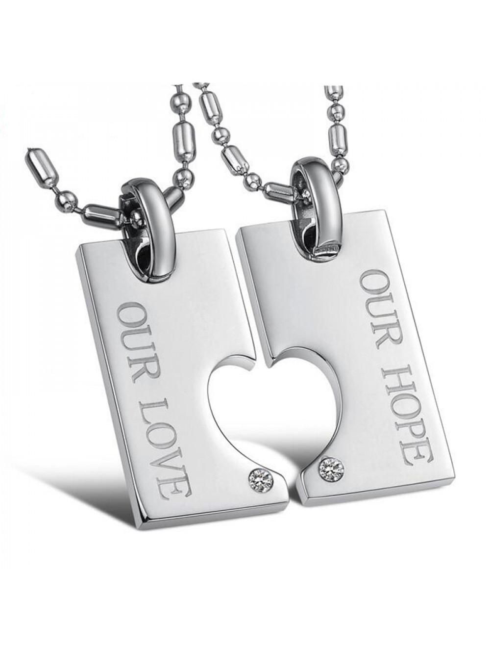 Náhrdelník pre dvoch Our love, Our hope