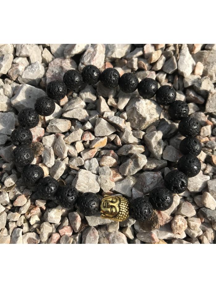 Náramok Buddha Sopečný kameň