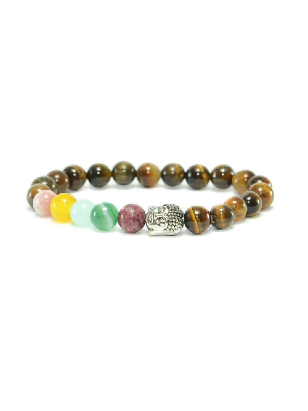 Náramok Buddha Tigrie Oko Color