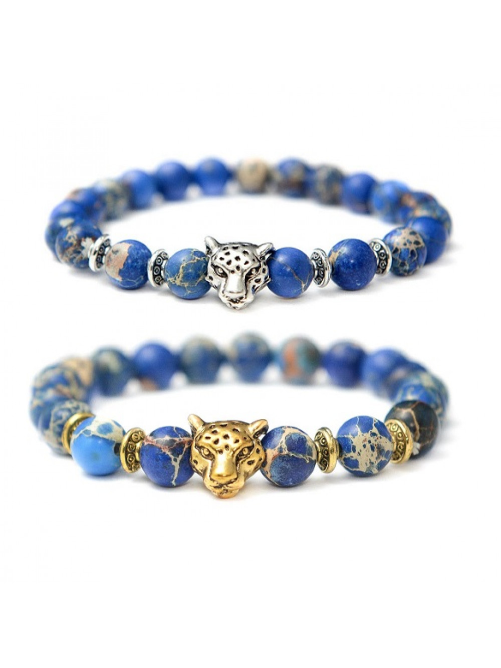 Náramok Jaguár - modrý jaspis