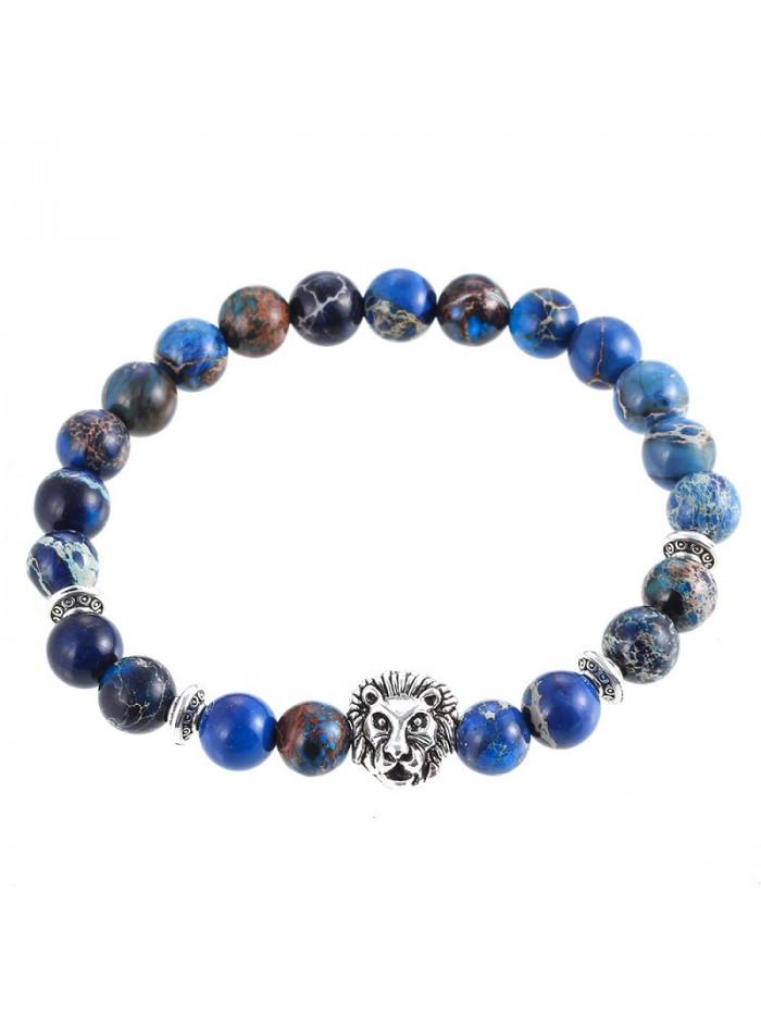 Náramok s levom - modrý jaspis