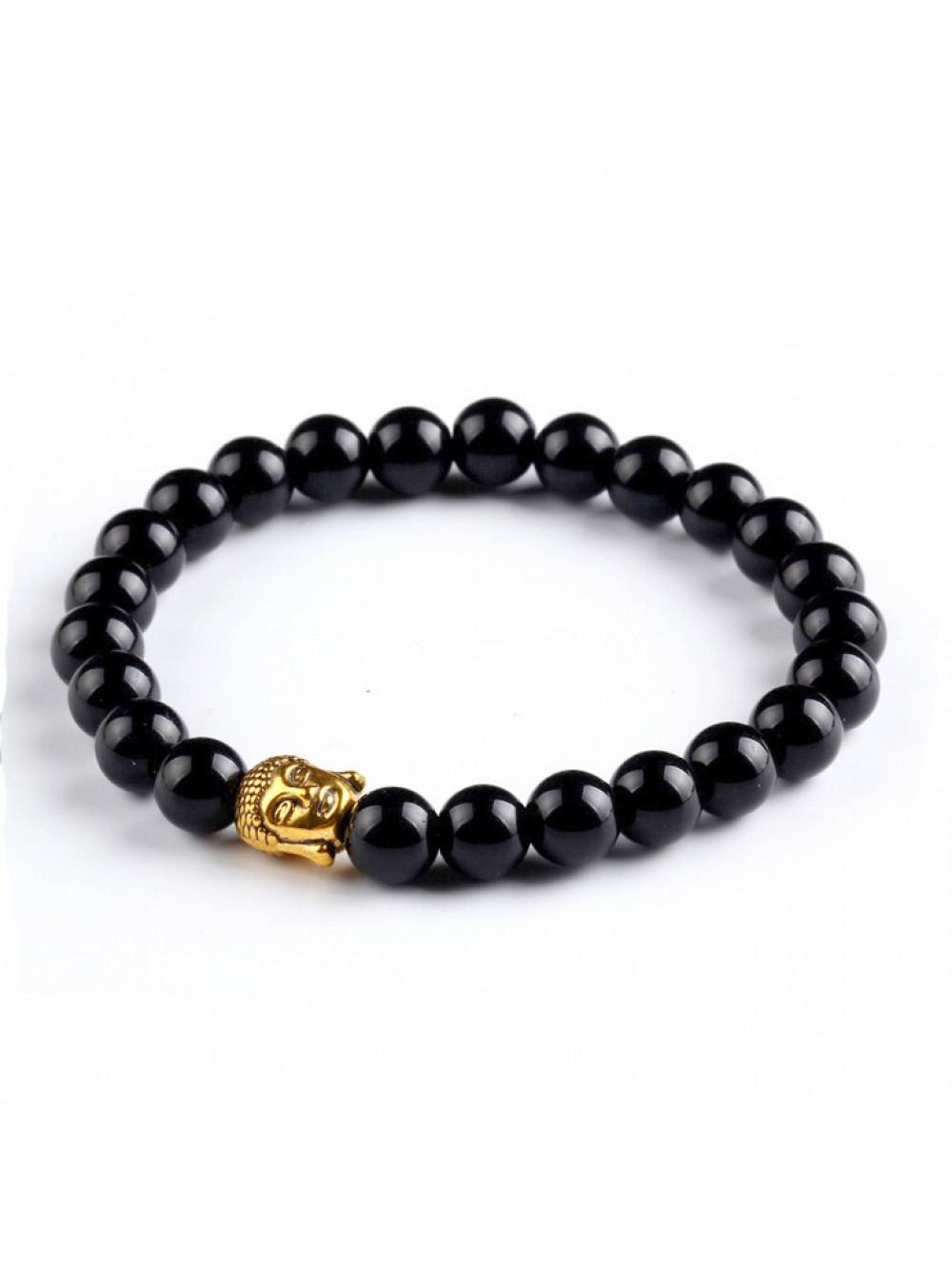 Náramok Buddha Čierny achát