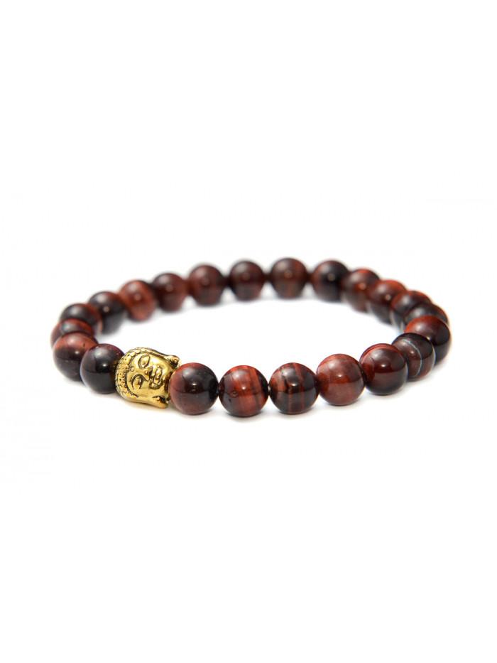 Náramok Buddha Tigrie oko - červené