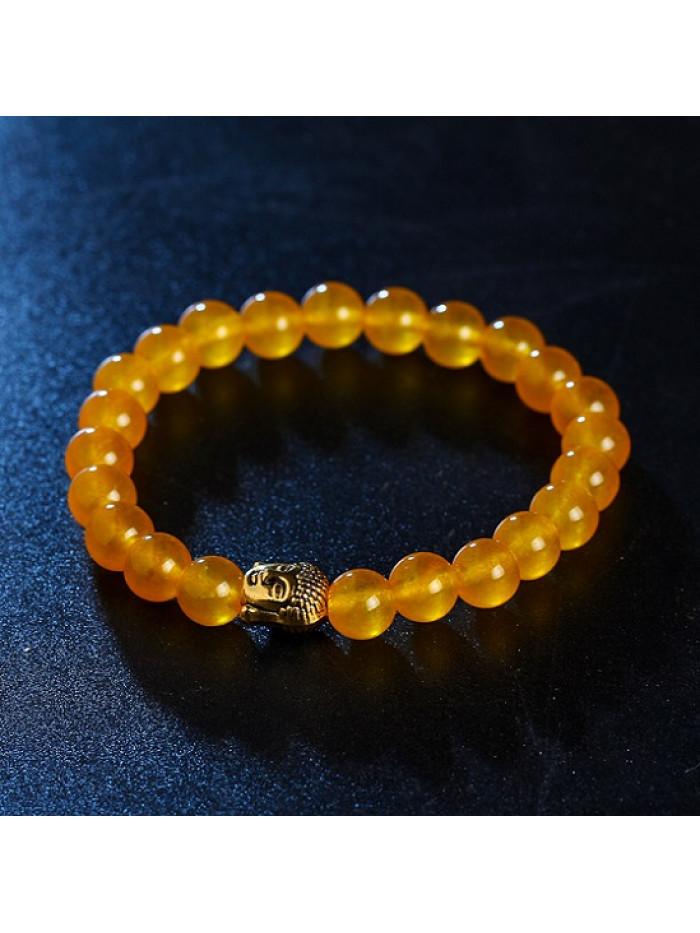 Náramok Buddha Žltý achát