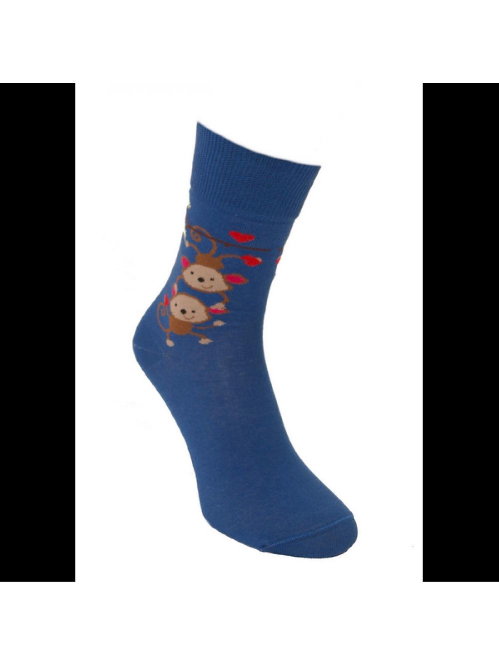 Ponožky Zaľúbené Opičky Foxysoxy Modrá