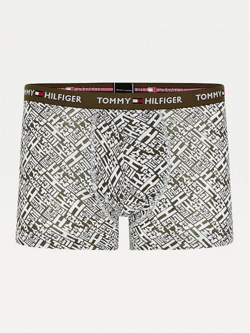 Pánske Boxerky Tommy Hilfiger All-Over Print Organic Cotton Trunks zelené