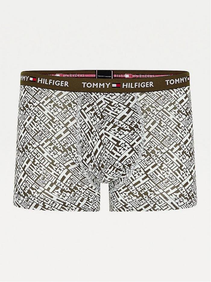 Pánske Boxerky Tommy Hilfiger All-Over Print Organic Cotton Trunks zelené