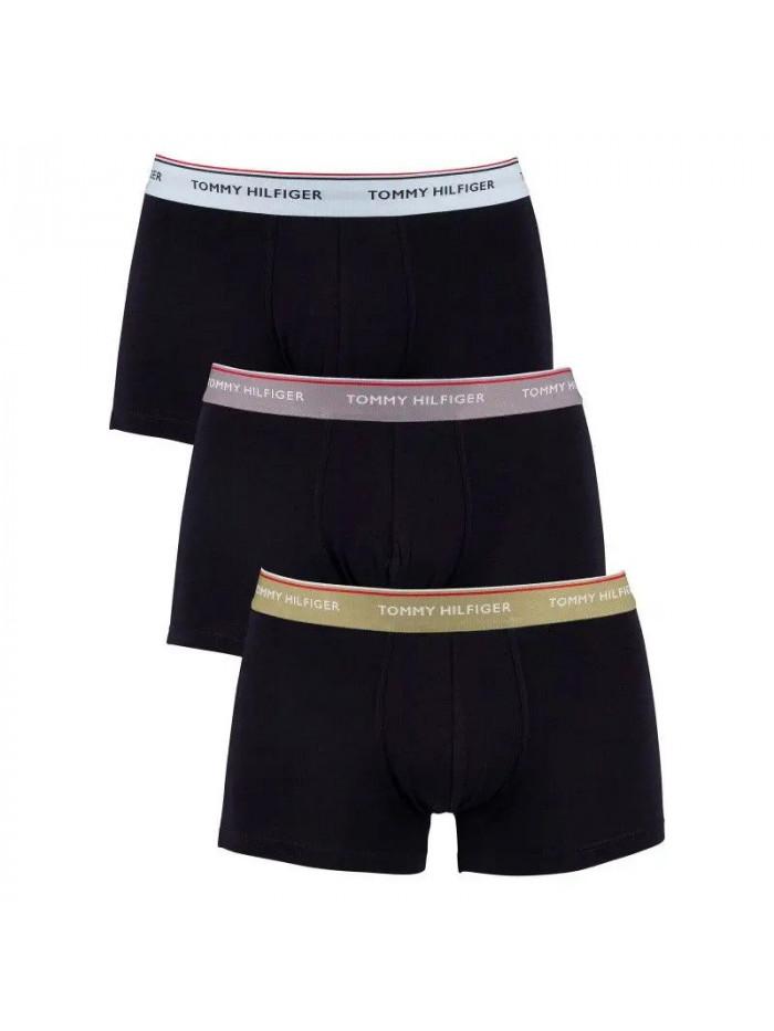Pánske boxerky Tommy Hilfiger Premium Essentials Tmavomodré s farebným pásom 3-pack
