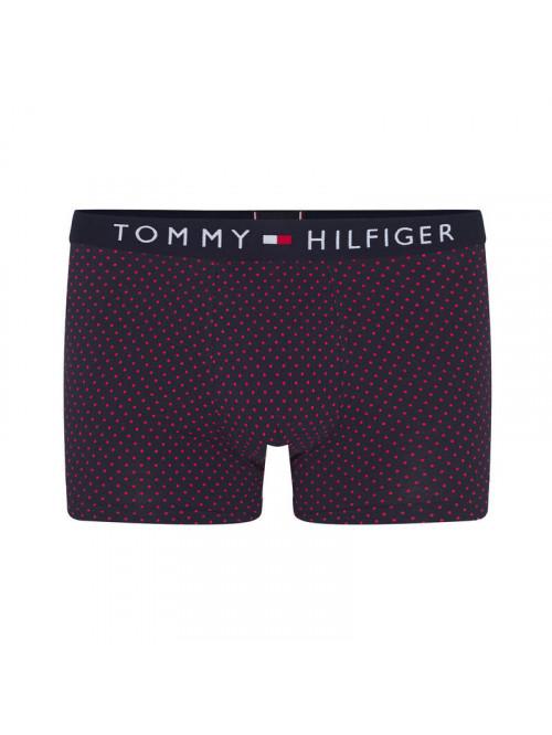 Pánske Boxerky Tommy Hilfiger All-Over Print Cotton Trunks čierne vzorované