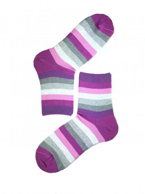 Ponožky Gatta pruhované fialovo - sivé