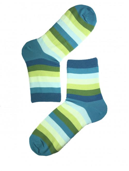 Ponožky Gatta pruhované modro- zelené