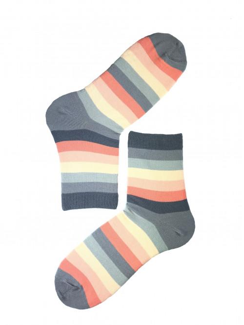 Ponožky Gatta pruhované oranžovo- sivé